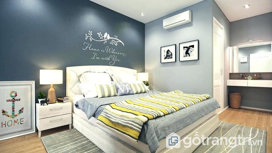 Màu sơn phòng ngủ vợ chồng độc đáo
