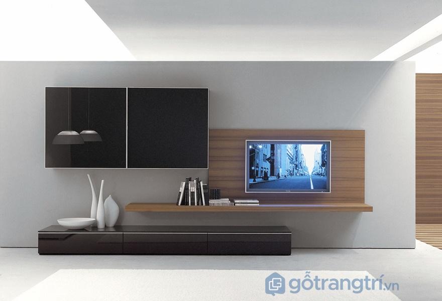 Kệ tivi gỗ acrylic đẹp - ảnh internet