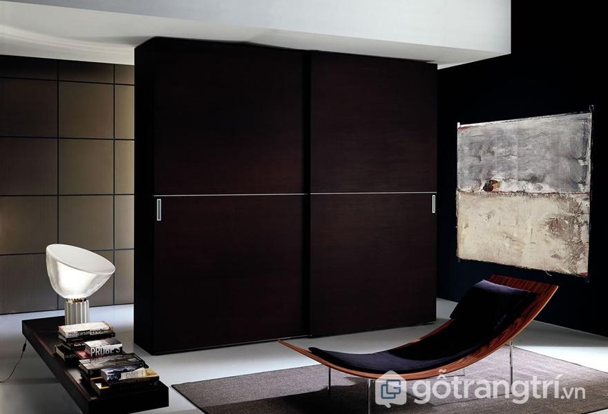 Tủ quần áo gỗ acrylic đẹp - ảnh internet