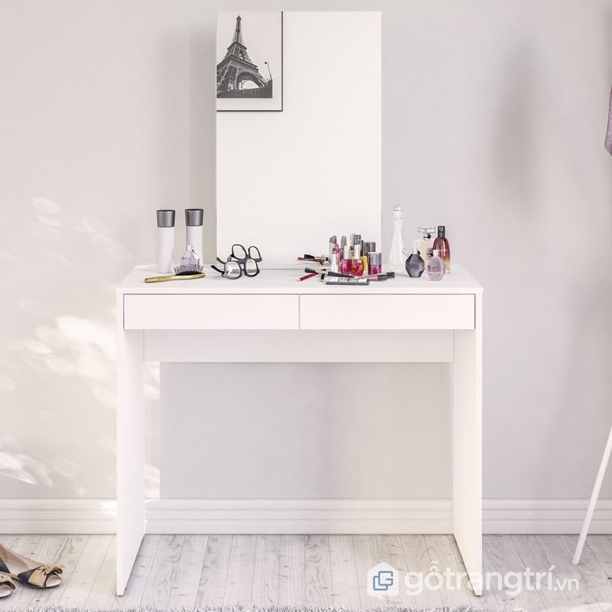 Bàn trang điểm gỗ acrylic đẹp - ảnh internet
