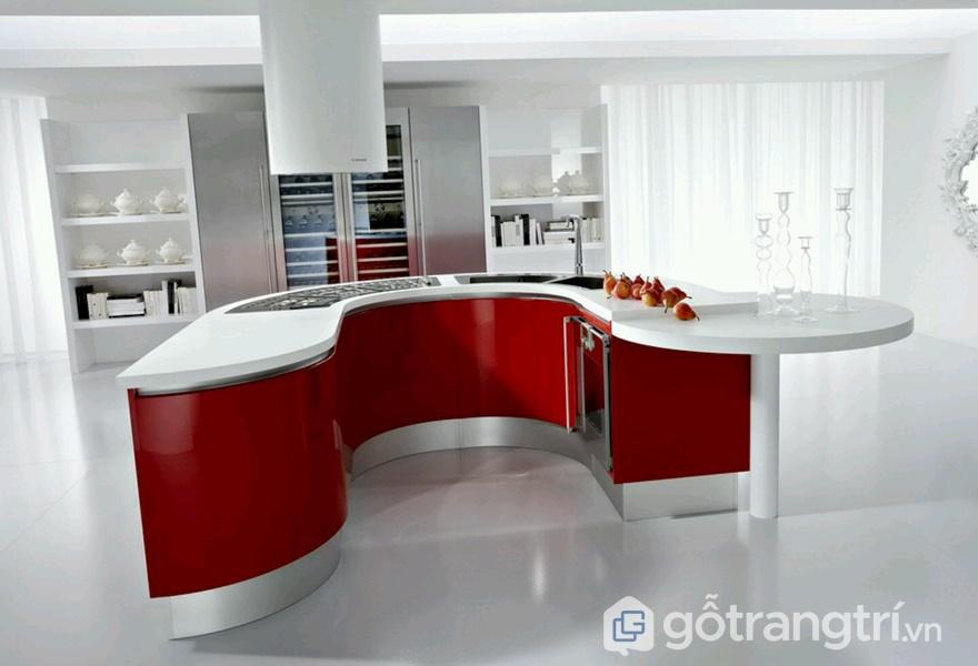 Tủ bếp gỗ acrylic đẹp - ảnh internet