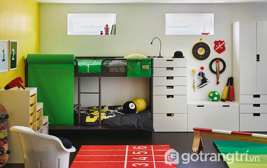 phòng ngủ cho trẻ em đảm bảo an toàn