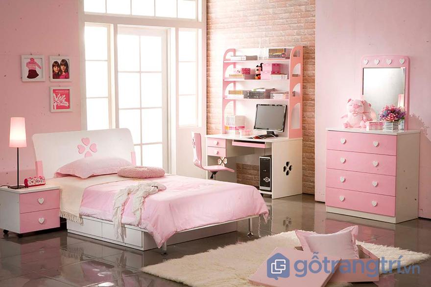 Sơn phòng ngủ màu hồng nhẹ nhàng