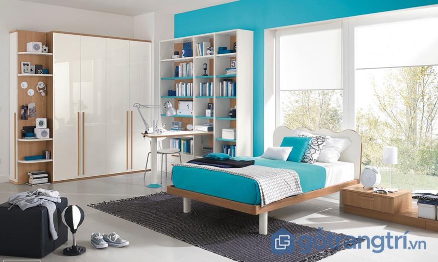 sơn tường phòng ngủ đẹp