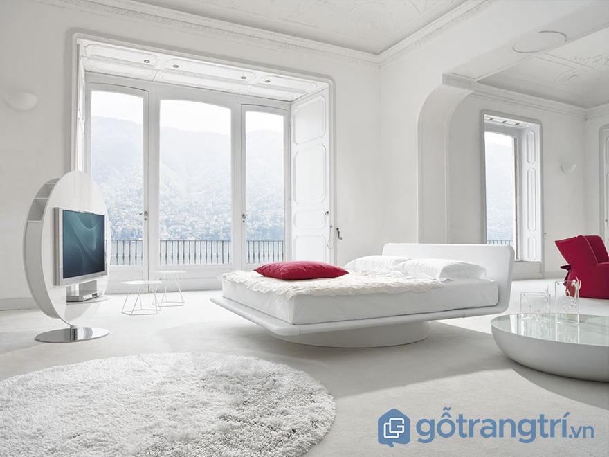 Sơn tường phòng ngủ đơn sắc