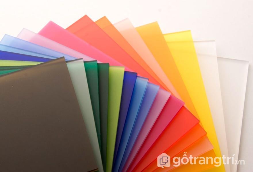 Tấm Acrylic có bảng màu vô cùng phong phú và độc đáo - ảnh internet