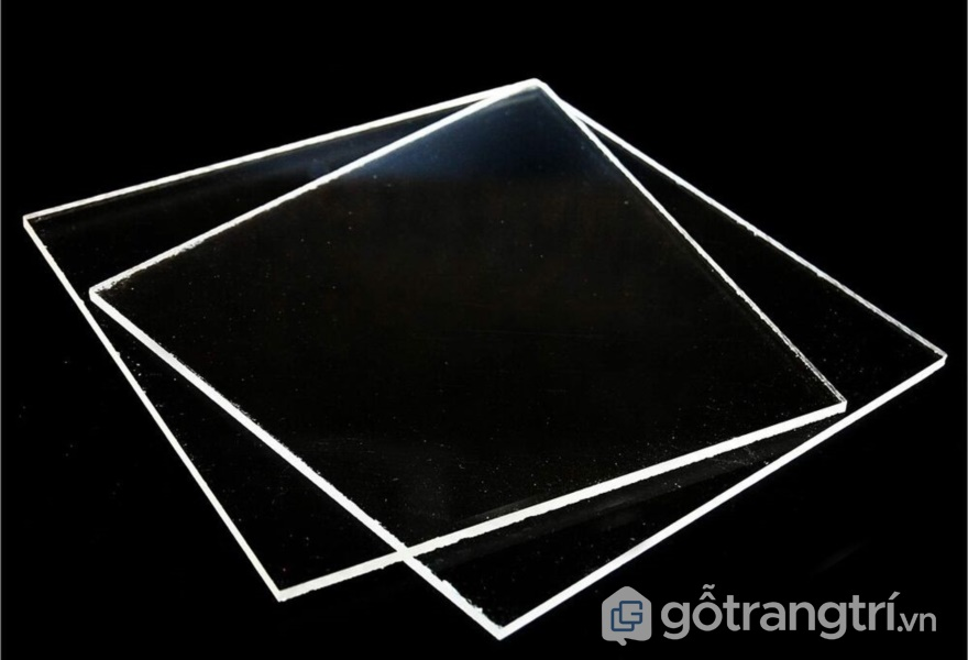 Tấm acrylic trong suốt - ảnh internet