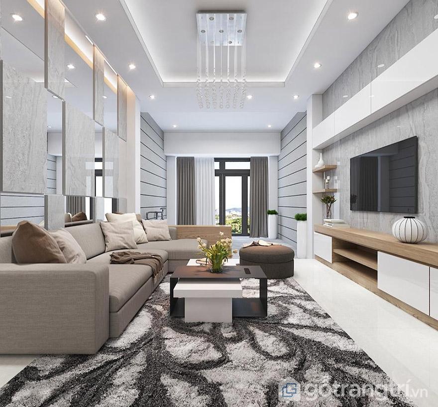 Thiết kế nội thất phòng khách với chưa đến 50 triệu đồng.
