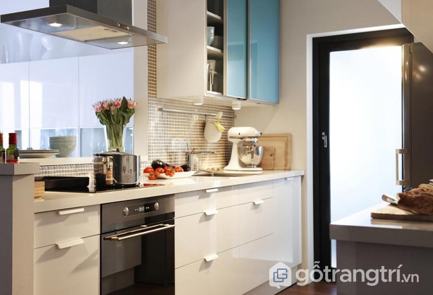 Tủ bếp nhựa Acrylic chống xước tối đa - ảnh internet