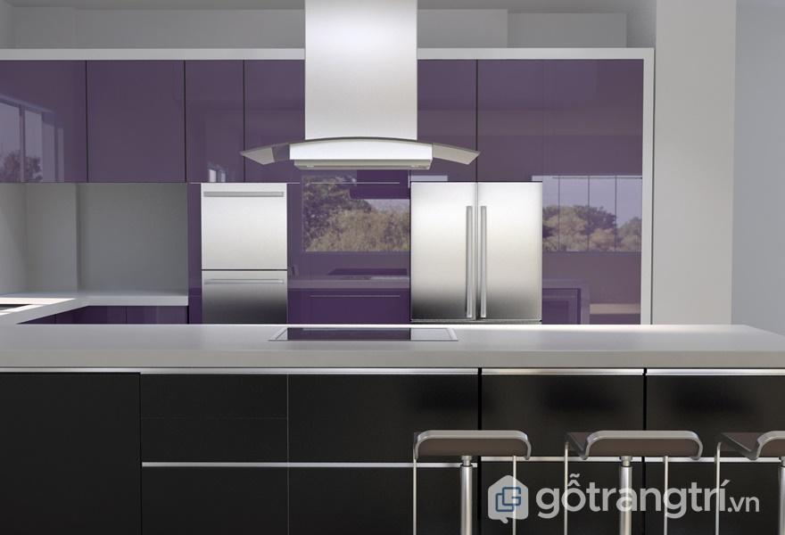 Tủ bếp nhựa Acrylic mang vẻ đẹp sang trọng với tính bóng gương cao - ảnh internet