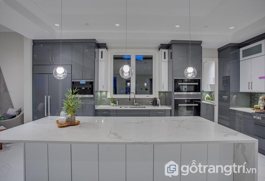 BST tủ bếp nhựa Acrylic hot nhất 2019 - ảnh internet