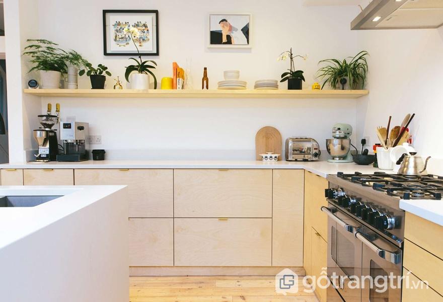 Tủ bếp nhựa Acrylic có độ bền cao - ảnh internet