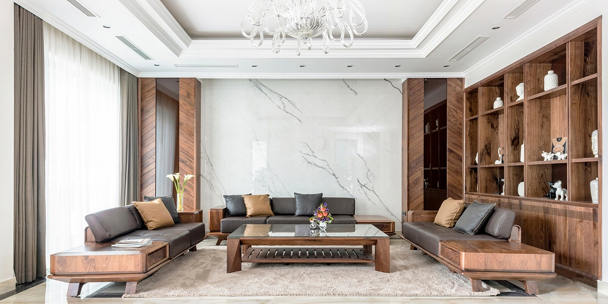 5 lý do cho thấy bạn nên chọn bàn ghế sofa gỗ phòng khách