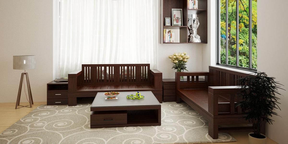 15 Mẫu Sofa Gỗ Hiện đại đẹp Hut Anh Nhin Phong Khach Gia đinh