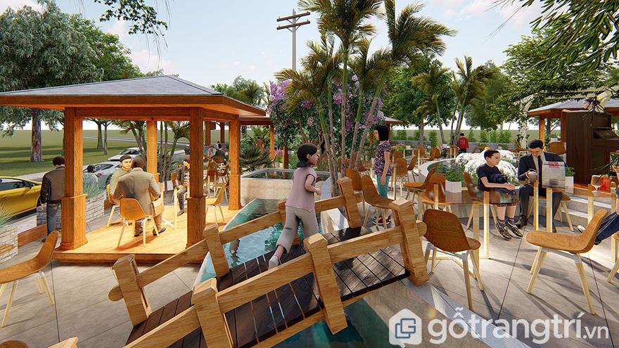 chi phí mở quán cà phê sân vườn
