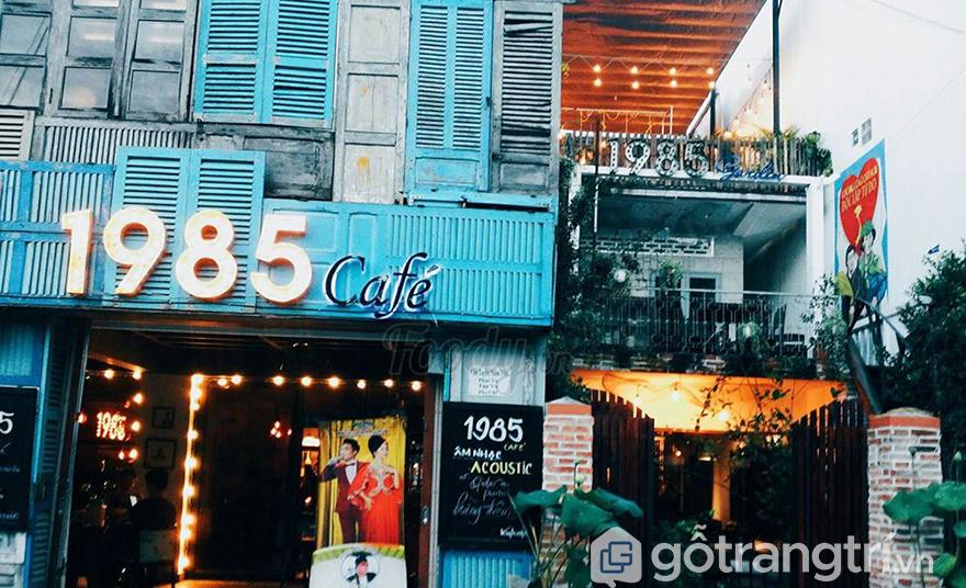 Cổng quán cà phê đẹpCổng quán cà phê đẹp
