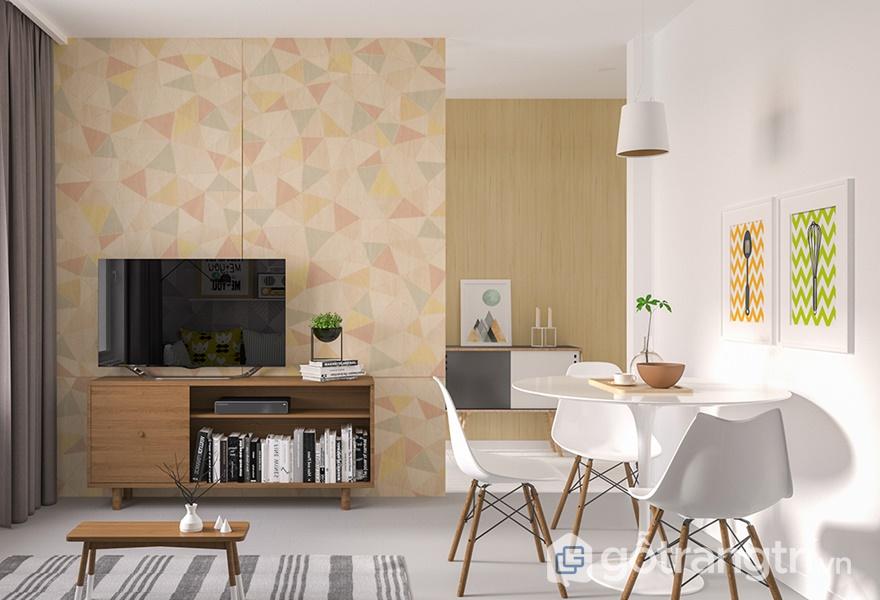 Nội thất Laminate vân gỗ cho không gian phòng khách - ảnh internet