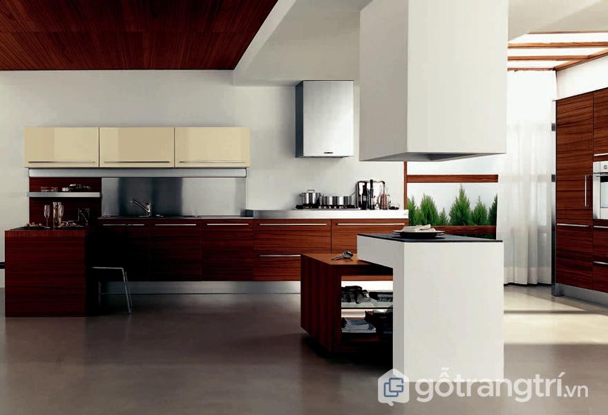 Nội thất Laminate vân gỗ cho không gian phòng bếp - ảnh internet