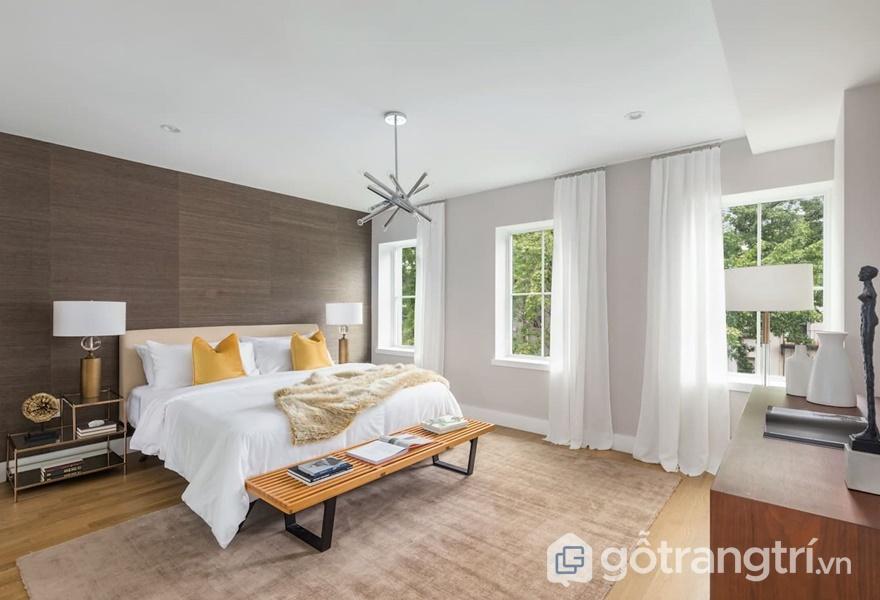 Nội thất Laminate vân gỗ cho không gian phòng ngủ - ảnh internet