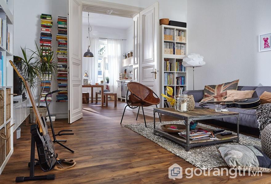 Sàn nhà Laminate vân gỗ phong cách cổ điển - ảnh internet