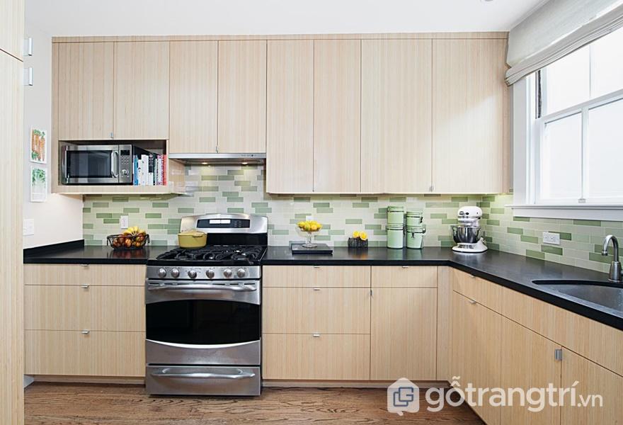 Tủ bếp bằng nhựa Laminate - ảnh internet