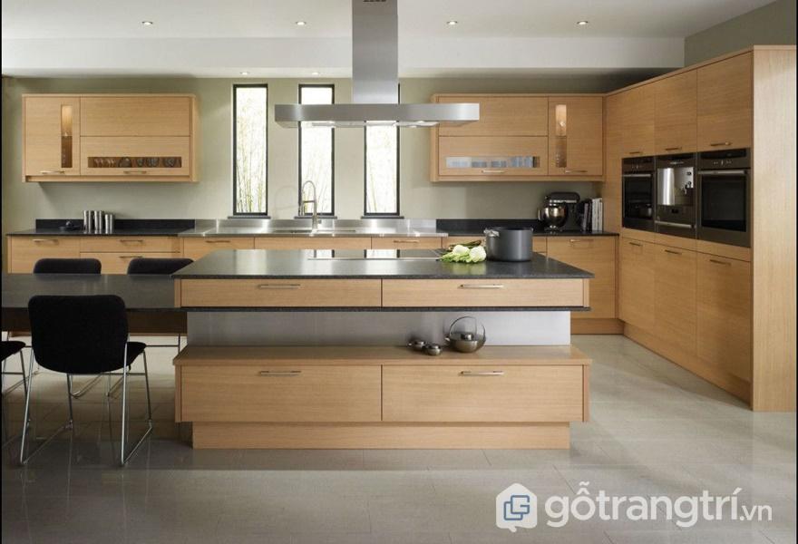 Tủ bếp laminate mang có vẻ đẹp đồng đều - ảnh internet