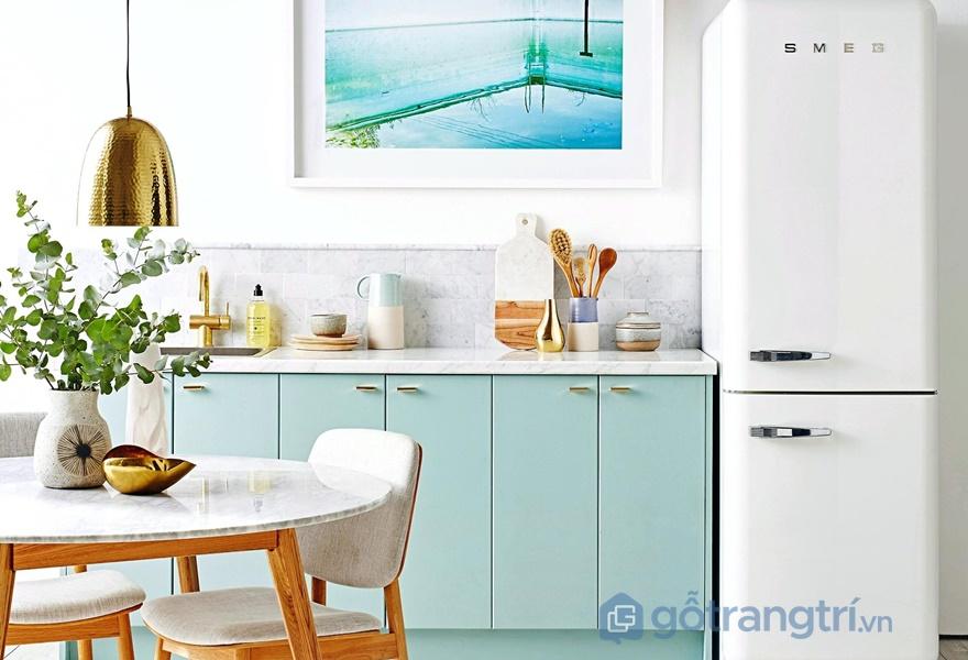 Tủ bếp laminate có thể uống cong, tạo nhiều kiểu dáng đẹp - ảnh internet