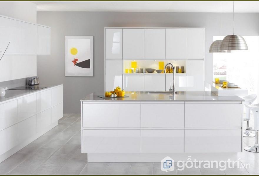 "Tủ bếp laminate theo phong cách""less is more"" - ảnh internet"