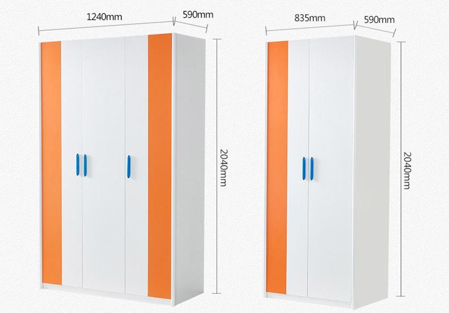 Chi tiết kích thước của tủ đựng quần áo gia đình gỗ công nghiệp hiện đại GHS-5698
