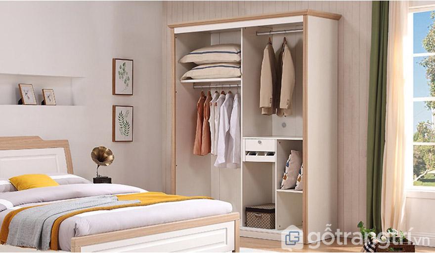 Thiết kế nhiều ngăn đáp ứng đủ nhu cầu chứa quần áo của gia đình.