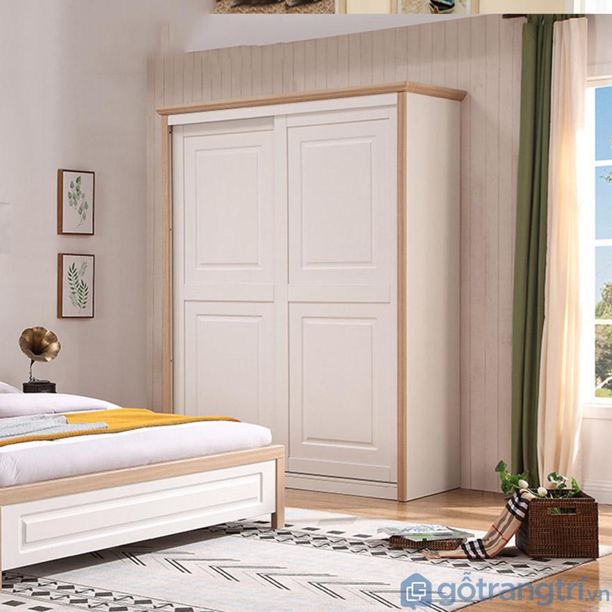 Tủ đựng quần áo gỗ công nghiệp đẹp hiện đại GHS-5697