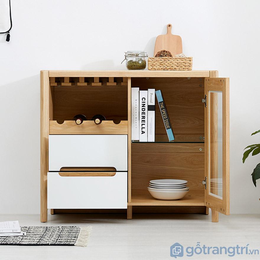 Tủ đựng rượu gỗ sồi tự nhiên thiết kế hiện đại GHS-5705