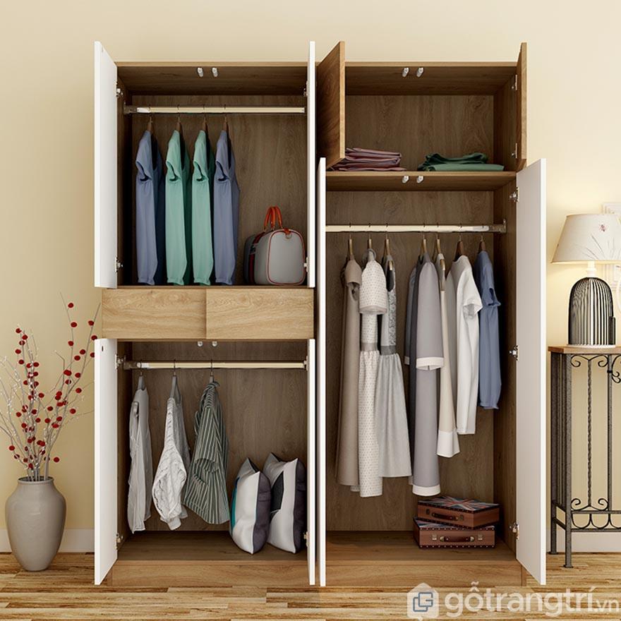 Thiết kế nhiều ngăn, đa năng và tiện dụng.