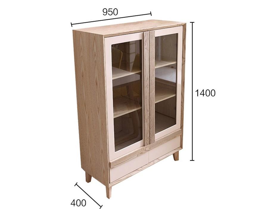 Chi tiết kích thước của tủ rượu gỗ sồi phòng khách gia đình đẹp hiện đại GHS-5703