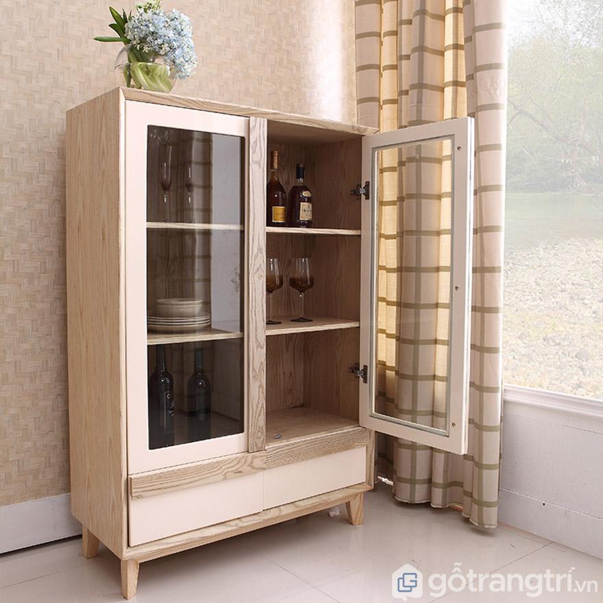 Tủ rượu gỗ sồi phòng khách gia đình đẹp hiện đại GHS-5703