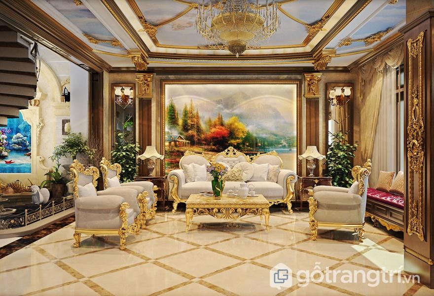 Bề mặt Melamine với phong cách nội thất cổ điển Châu Âu - ảnh internet