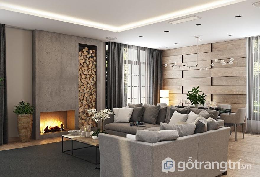 Bề mặt Melamine cho không gian phòng khách - ảnh internet