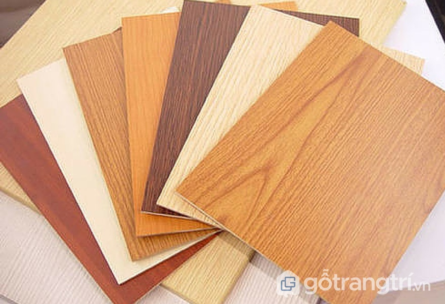 Bề mặt gỗ công nghiệp phủ Melamine có chất lượng tương đối ổn định - ảnh internet