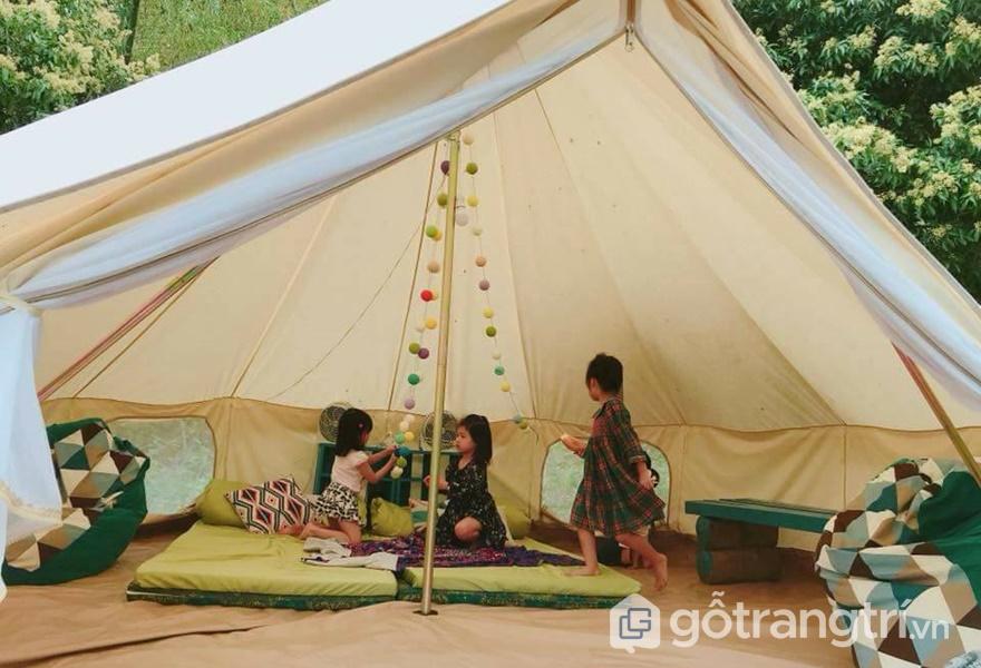 Trải nghiệm sống trong lều tại homestay - ảnh internet