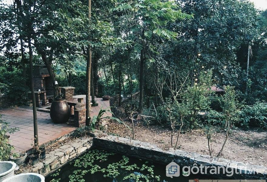 Vẻ hoang sơ bên ngoài của homestay gần Hà Nội - ảnh internet