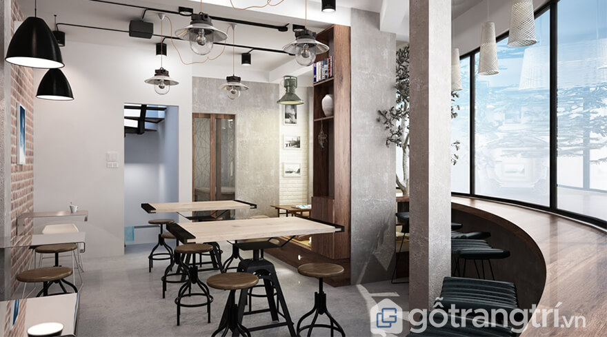 thiết kế quán cà phê nhỏ đẹp