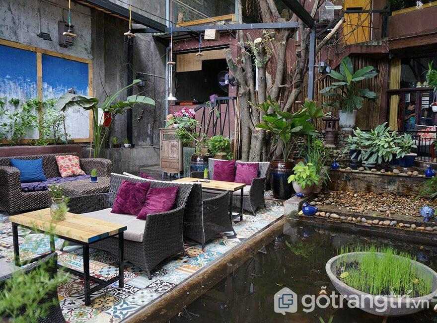 Thiết kế quán cà phê sân vườn