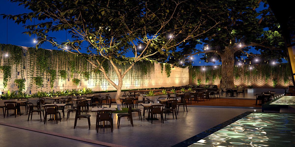Thiết kế quán cà phê sân vườn đẹp như mơ