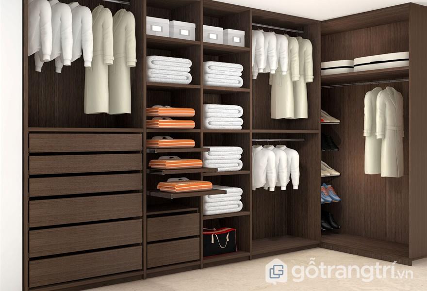 Ứng dụng ván dăm phủ Melamine cho thiết kế tủ áo - ảnh internet