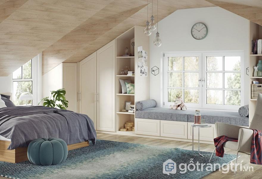 Bề mặt giấy trang trí Melamine cho không gian phòng ngủ - ảnh internet