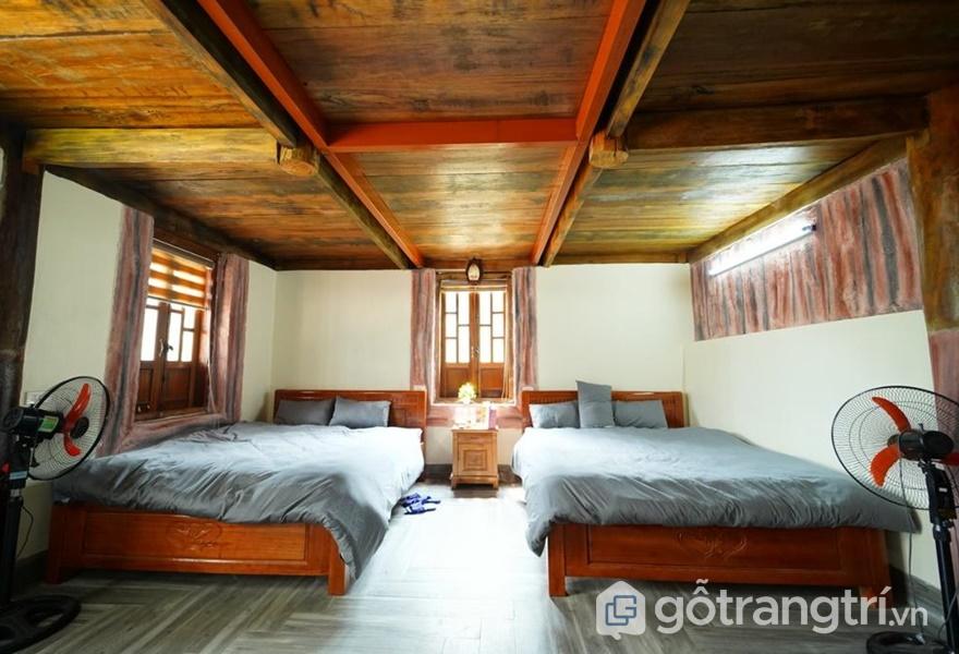 Phòng ngủ tại Vấn Cúc Homestay - ảnh internet
