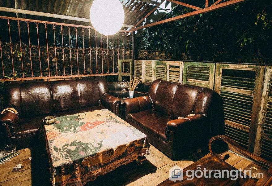 Không gian tại Bơ House homestay Mộc Châu (ảnh internet)