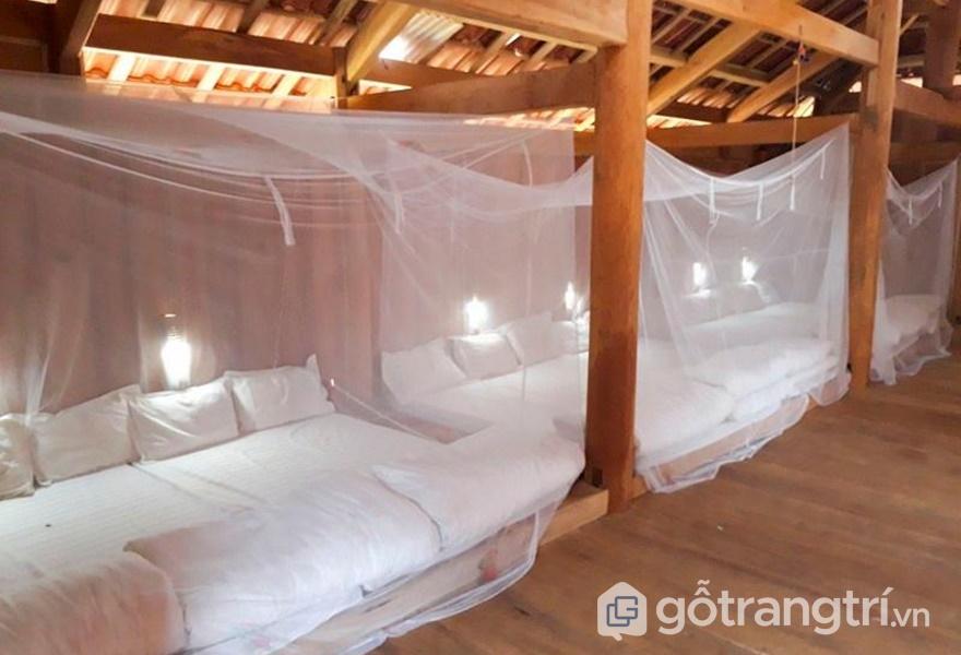 Phòng ngủ tại Mường Mộc Homestay (ảnh internet)