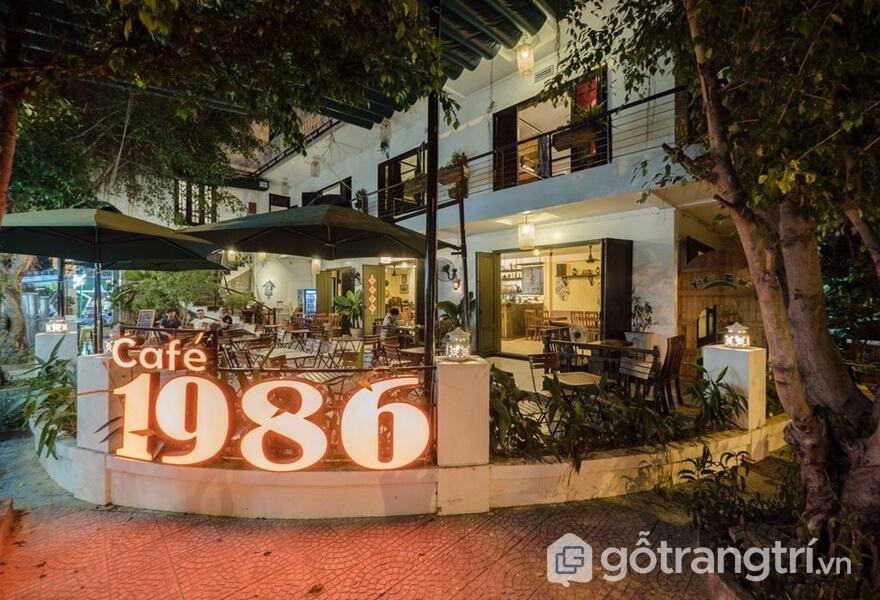 Cafe 1986 tại tầng trệt - ảnh internet