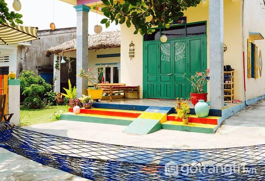 Ngôi nhà đầy màu sắc The Hoi An Hippie House (ảnh internet)
